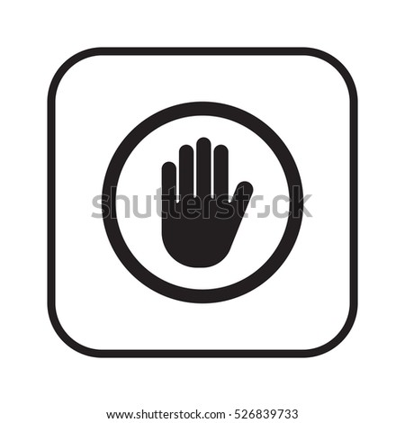 Hand icon,vector. Flat design.