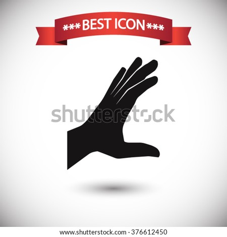 Hand icon vector, hand icon eps10, hand icon picture, hand icon flat, hand icon, hand web icon, hand icon art, hand icon drawing, hand icon, hand icon jpg, hand icon object, hand icon illustration - stock vector