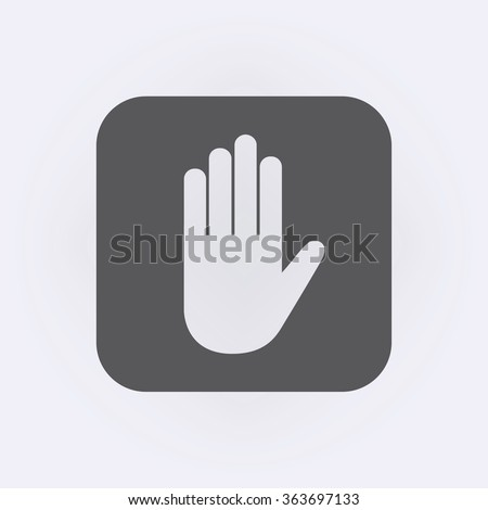 Hand icon . Vector illustration