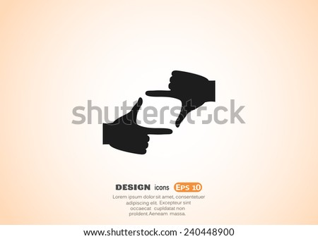 hand lens, web icon. vector design - stock vector