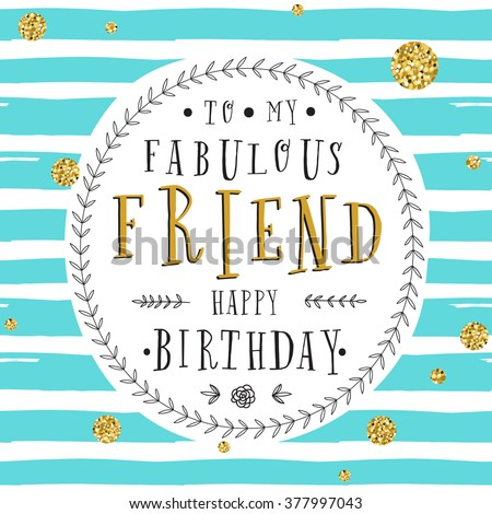Hand Lettering Birthday Greeting Card Birthday Stock Vector Royalty