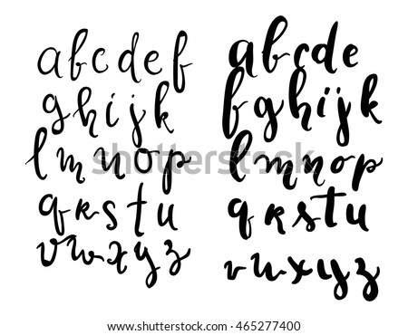 Hand Lettering Font Modern Style Full Version Vector Illustration