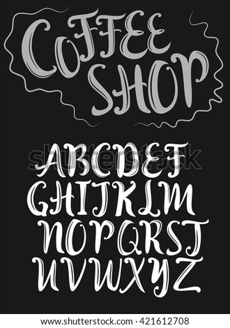 Hand Lettering Vector Font