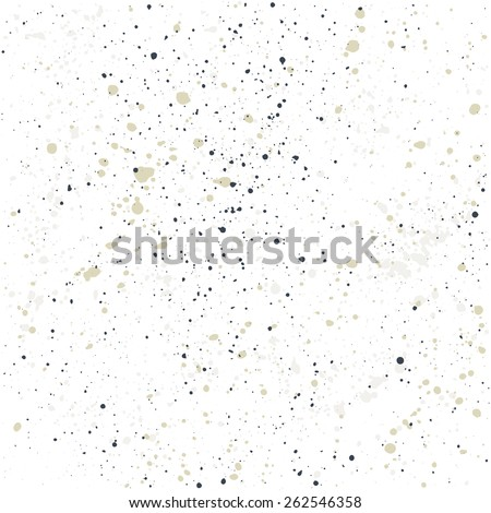 Hand-made grunge texture. Seamless pattern. Abstract ink drops background - stock vector