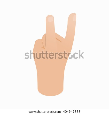 Hand Metal music sign icon, isometric 3d style - stock vector