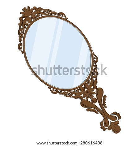 Vintage Mirror Stock Images, Royalty-Free Images & Vectors ... Vintage Hand Mirror Clip Art