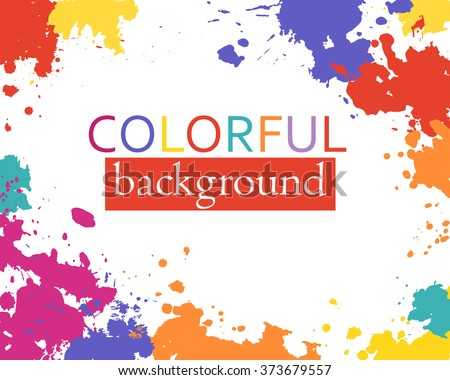 Hand paint color stains, abstract vector background