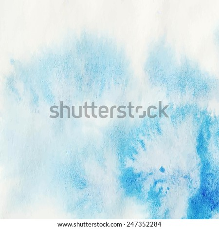 Hand paint watercolor winter abstract background. Perfect hand paint background for invitations, cards, textile, fabric or for any other kind of design. Vector illustration. - stock vector