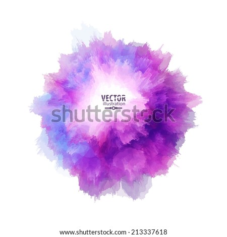 Hand painted blot. Abstract vector background - stock vector
