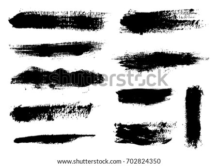 Hand Painted Brush Strokes.Vector Grunge Brushes.