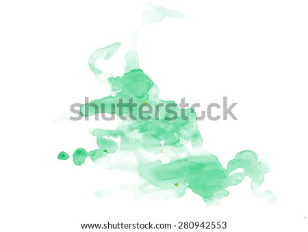 Hand painted tea traced background.Vector illustration