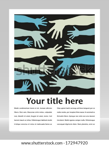 Hand pattern with copy space.  - stock vector