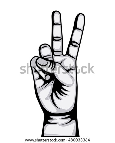 hand peace and love symbol vector illustration design