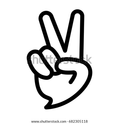hand gesture peace sign stock vector 304295063 shutterstock