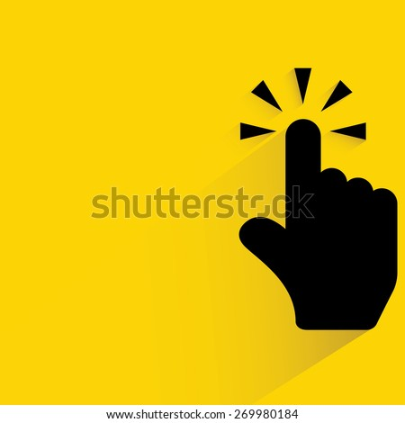 hand pointer click - stock vector