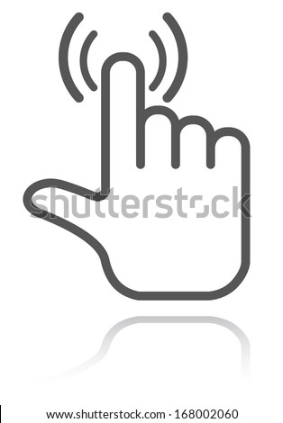 hand pointer icon - stock vector