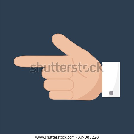 Hand pointer icon. Forefinger icon. Simple flat vector. EPS 10. - stock vector