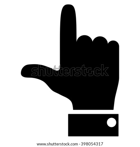 Hand Pointer Up vector icon. Style is flat icon symbol, black color, white background.