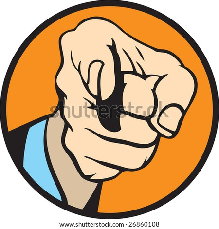 Hand pointing 2 - stock vector