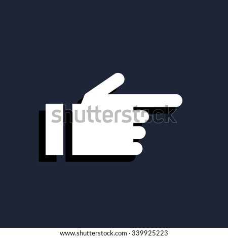 hand pointing finger icon