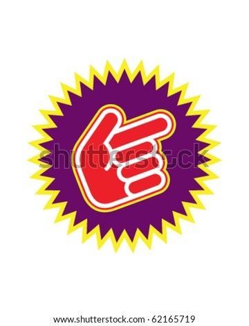 hand pointing up - stock vector