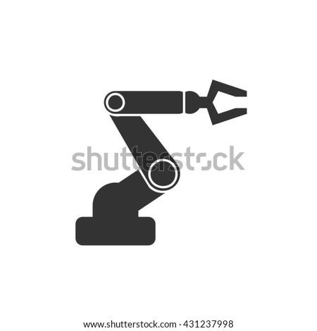 hand robot vector - stock vector