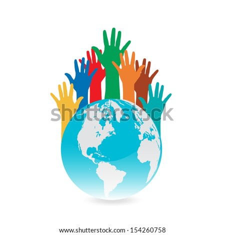 Hand Save The Earth Conceptual  - stock vector