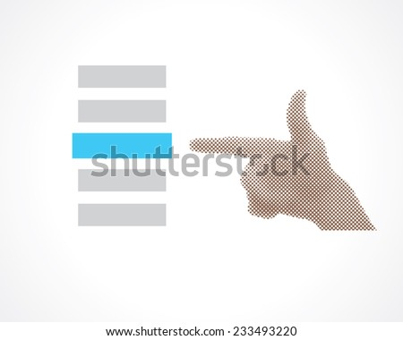 hand selects - stock vector