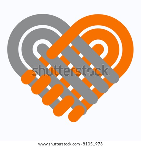 Hand shake icon isolated, on white, vector  - stock vector