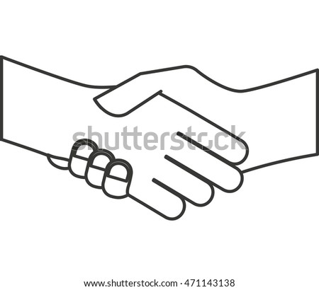 hand shake isolated icon vector illustration design