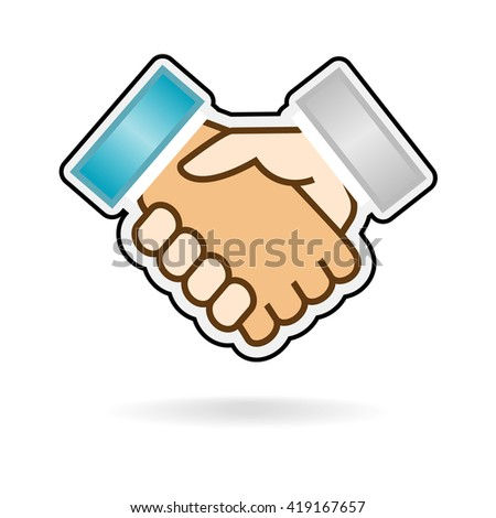 hand shake isolated vector image