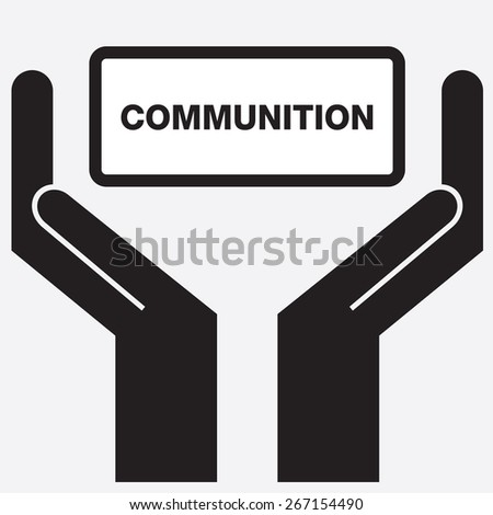 Hand showing communication sign icon. Vector illustration. - stock vector