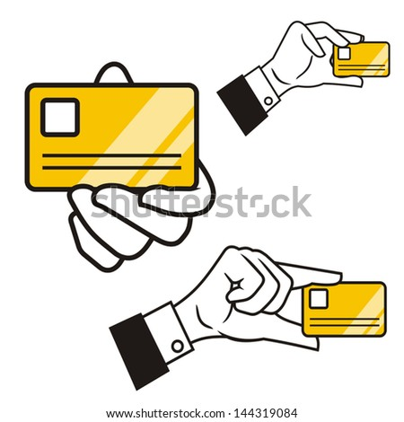 Hand showing identification - stock vector