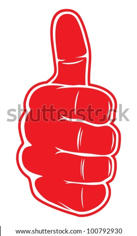 Hand showing thumbs up - stock vector