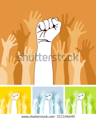 Hand sign series - stock vector