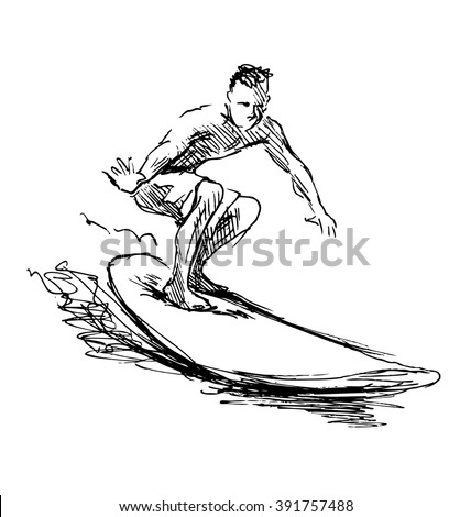 Surfing sketch