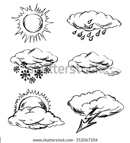 hand sketch Weather Icons