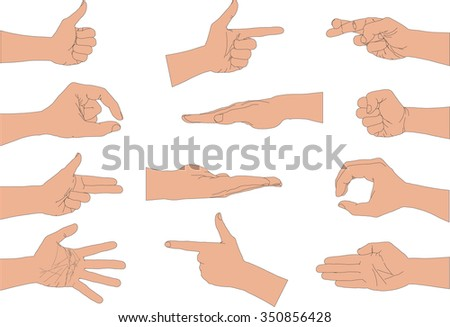 Hand style. Vector version