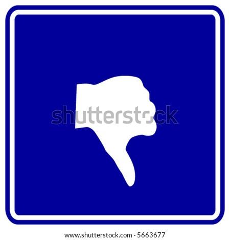 hand thumb down sign - stock vector