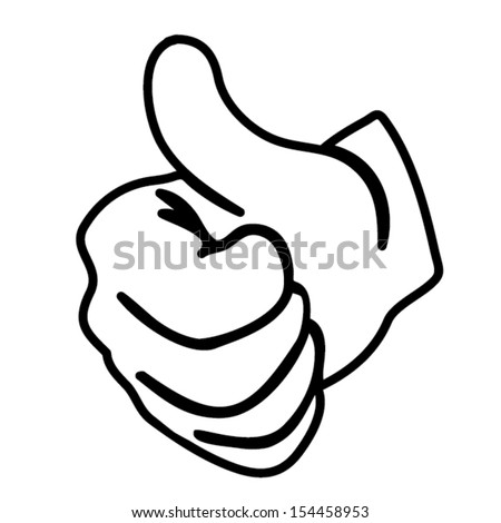 hand thumbs up vector outline