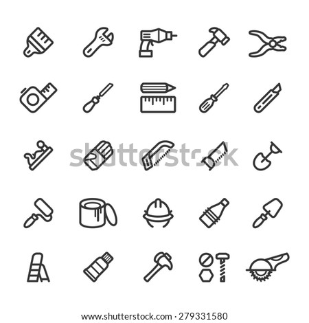 Hand tools - stock vector
