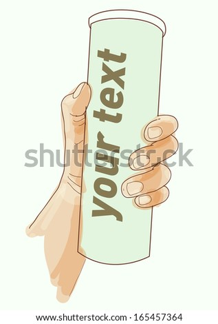hand vector. holding stuff - stock vector