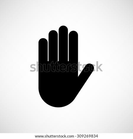 Hand - vector icon - stock vector
