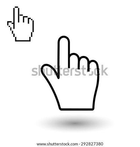 Hand vector, vector illustration