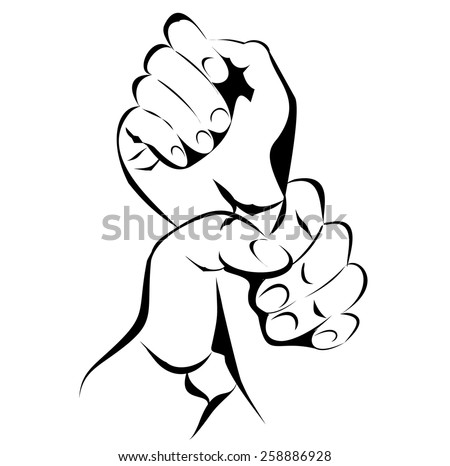 Hand Violence - stock vector
