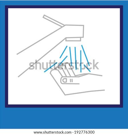 hand washing symbol - stock vector