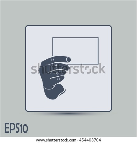 Hand with a blank sheet of paper