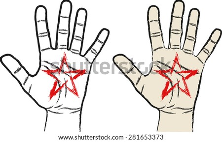 hand with pentagram