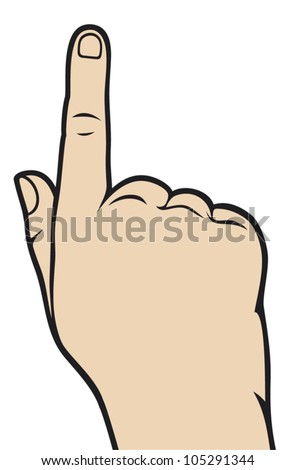 hand with pointing finger - stock vector