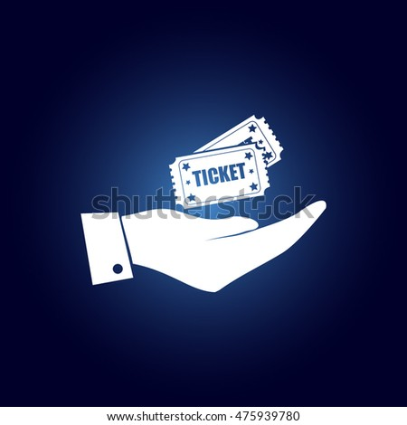 Hand with ticket icon